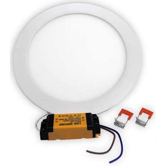 12W LED Dimmable Round Ceiling Panel Light Cool White NF-RPL-12W